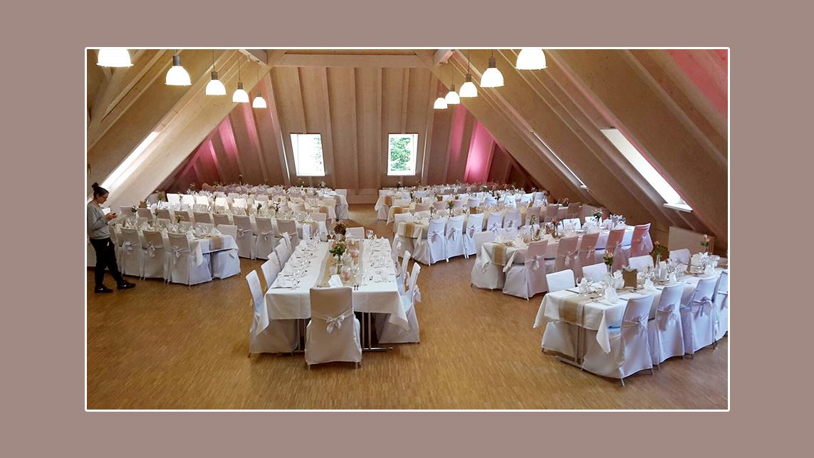 Hochzeitsdeko in creme-weiß von Desiree & Elias aus Nordach