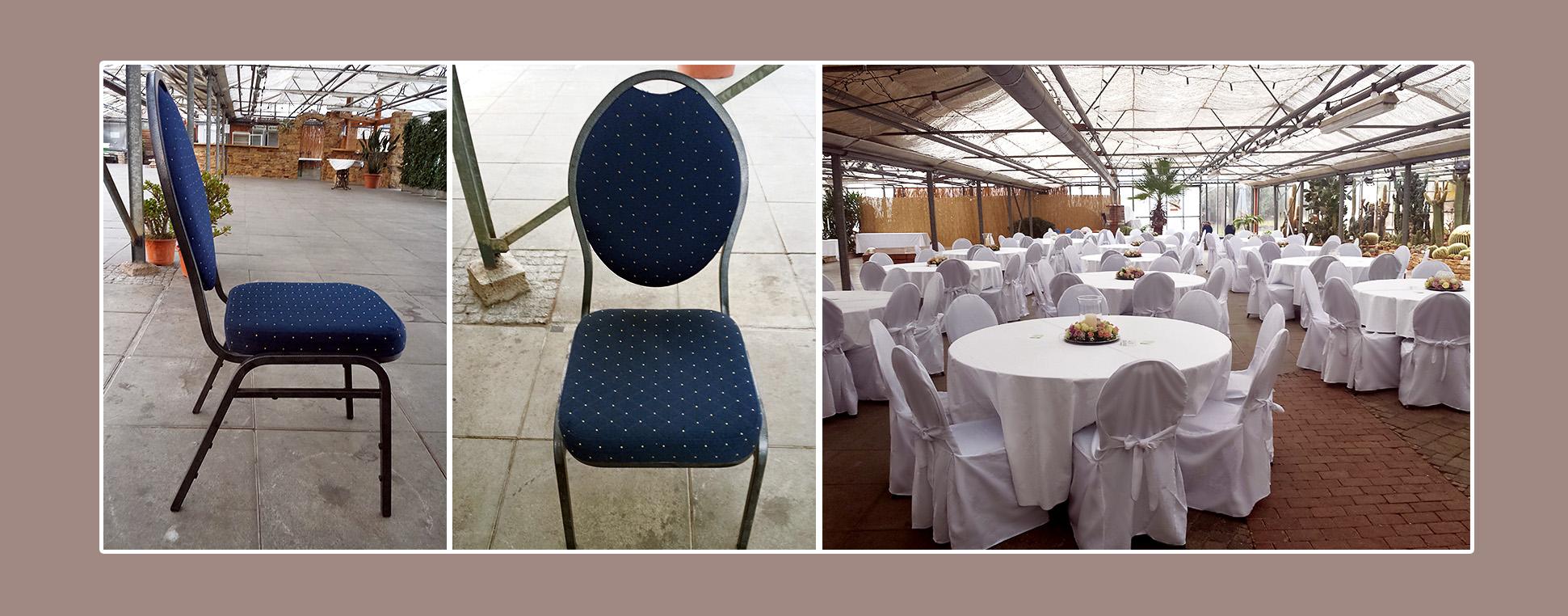 Stuhlhussen mieten für Bankettstühle in Wendlingen am Neckar, Umgebung Kirchheim unter Teck, Eesslingen und Stuttgart
