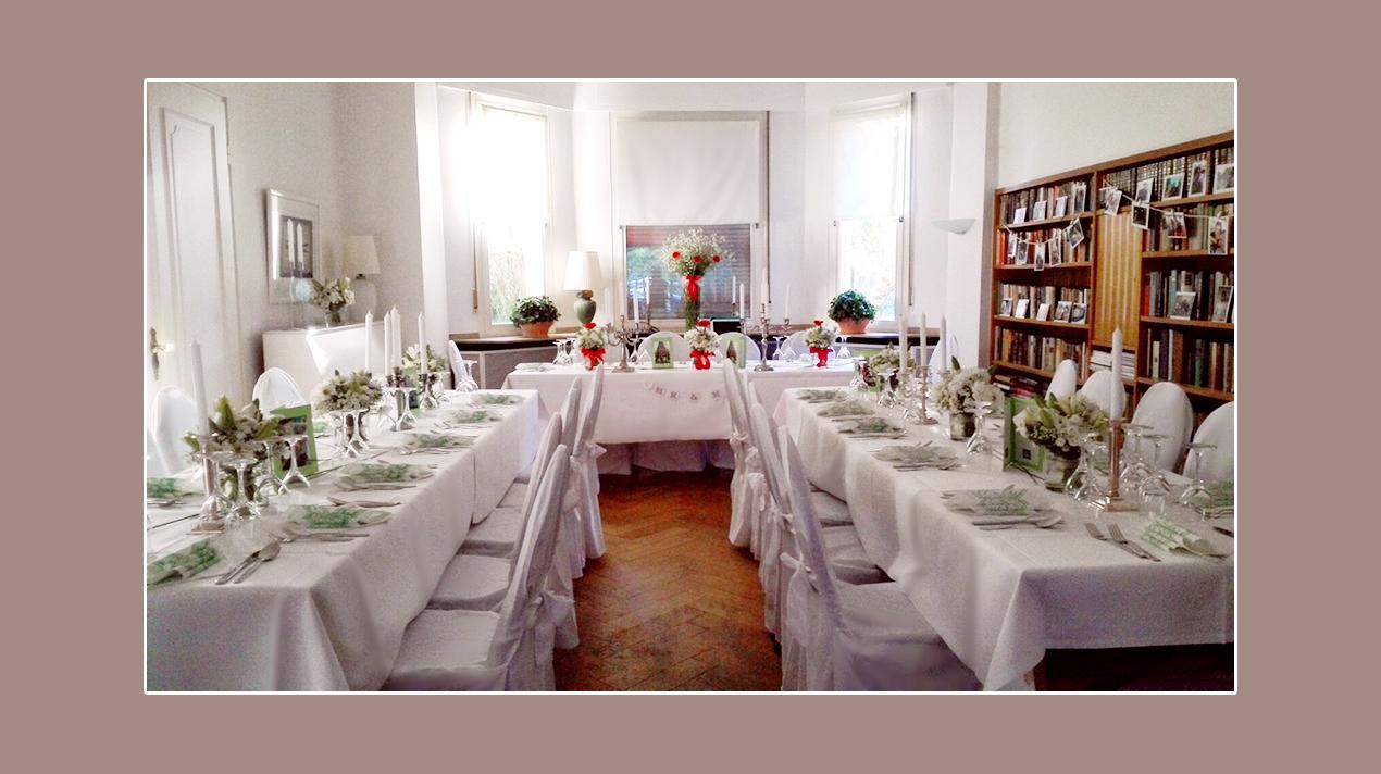 Hochzeitsdeko - Hochzeitslocation Villa Dietrich in Köln