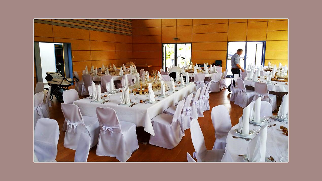 Hochzeitsdeko in der Hochzeitslocation Weinberghalle in Mittelfischach - Kreis Schwäbisch Hall