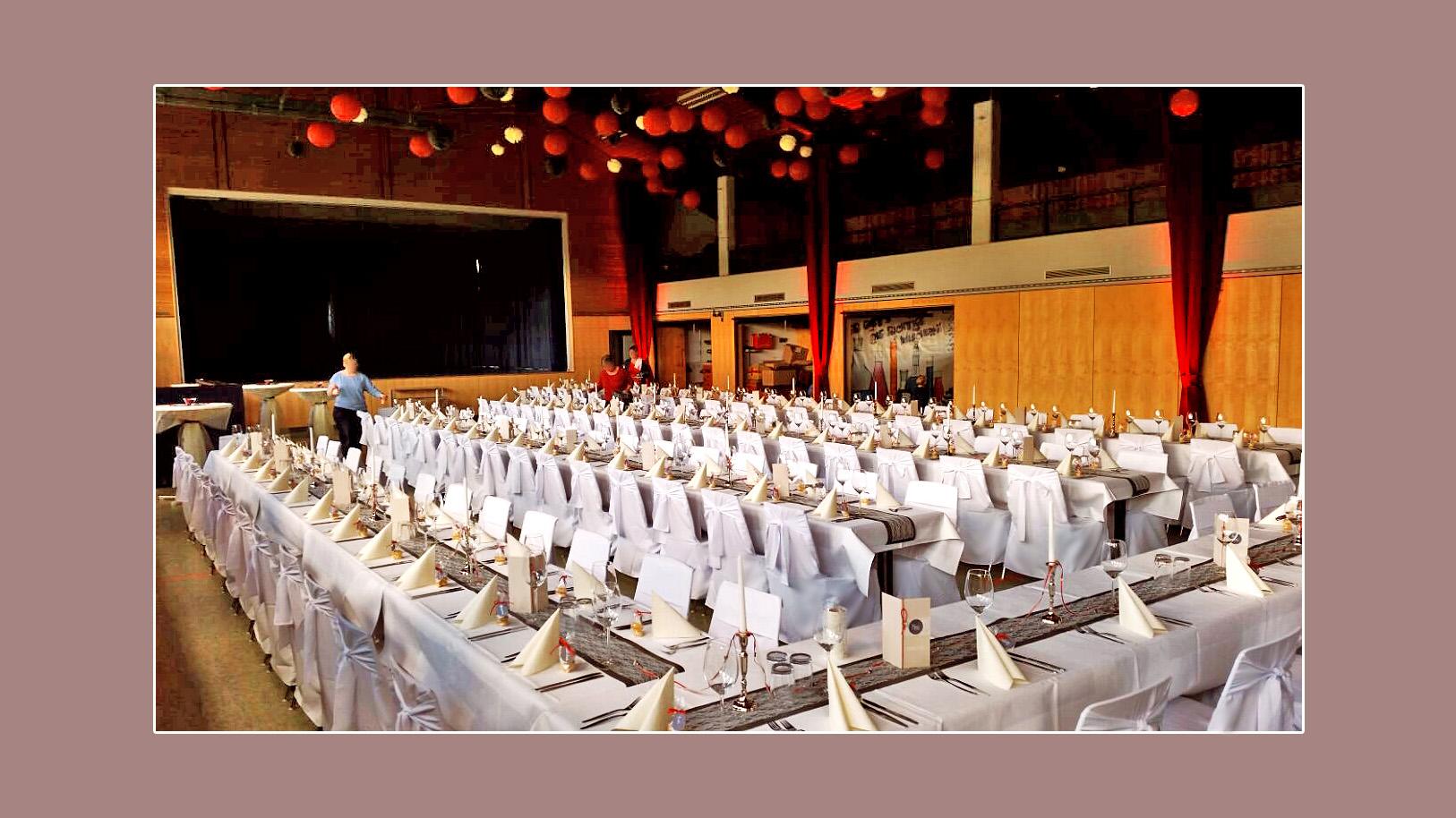 Hochzeitsdeko Haagwaldhalle in Weilheim-Remetschwiel