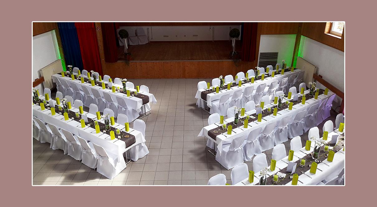 Hochzeitsdeko Stuhlhussen mieten Brachtal, Umgebung Frankfurt am Main