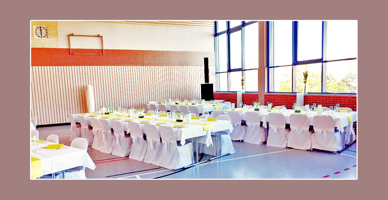 Hochzeitsdeko in der Sporthalle Albstadt, Balingen