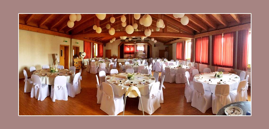 Hochzeitsdeko in der Hochzeitslocation Bad neustadt an der Saale